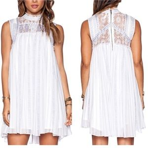 Free People Babylon Lace Dress in Ivory